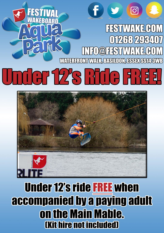 Under 12's Ride FREE
